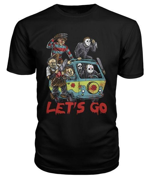 Horror characters movie let's go shirt