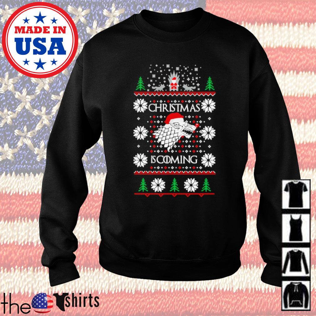 Games of Thrones Christmas is coming ugly Christmas sweater