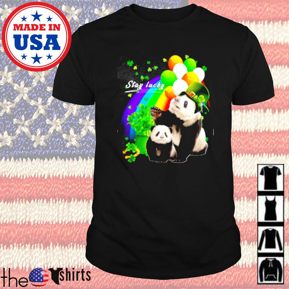 Cute Panda stay lucky Patrick's day shirt
