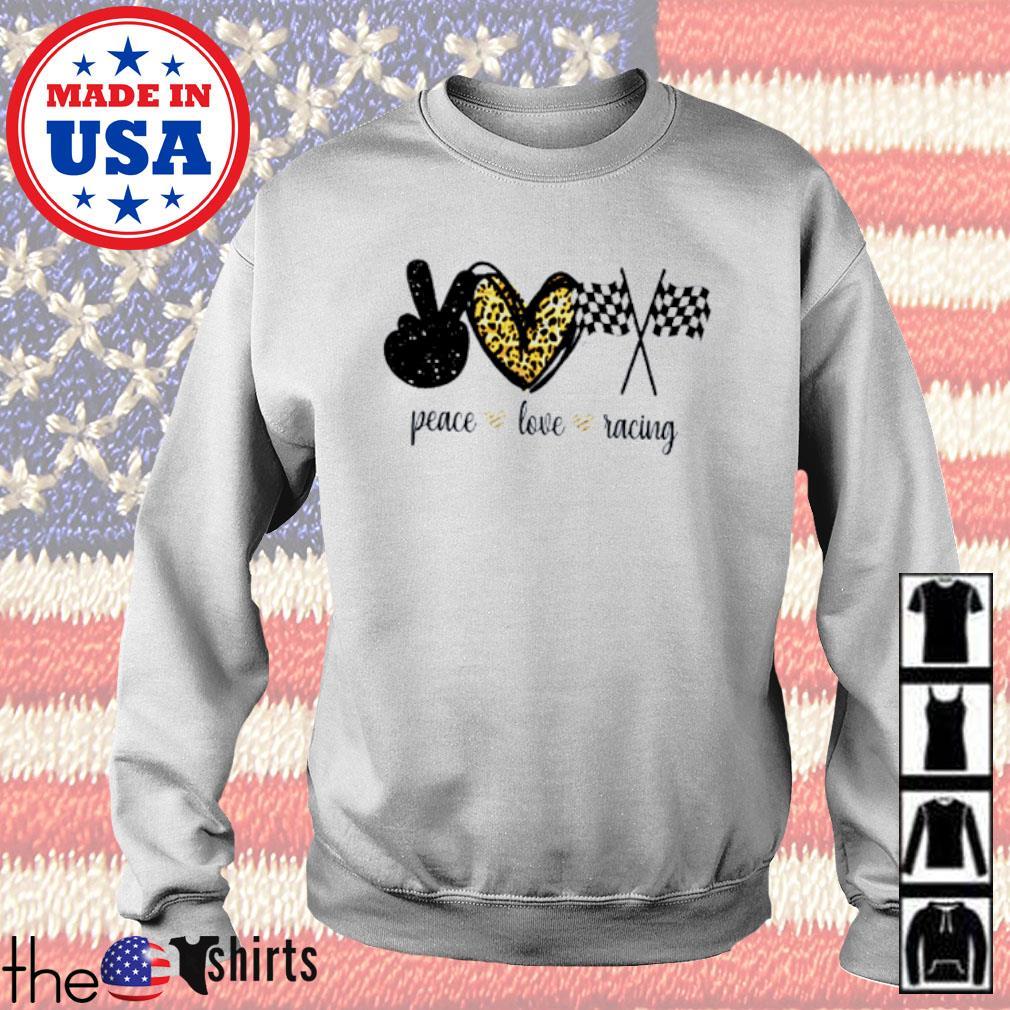 Peace love racing flag s Sweater