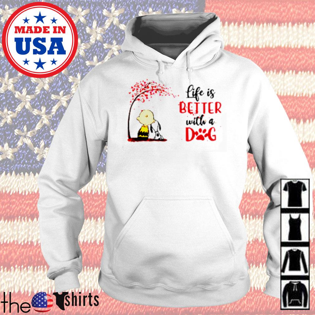 Snoopy and Charlie Brown life is better with dog Autumn s Hoodie