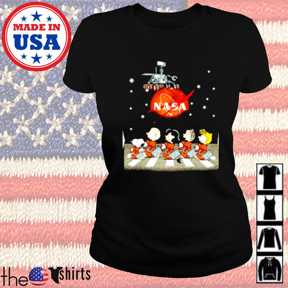 The Peanuts Snoopy and Friends Abbey Road Nasa mars s Ladies tee