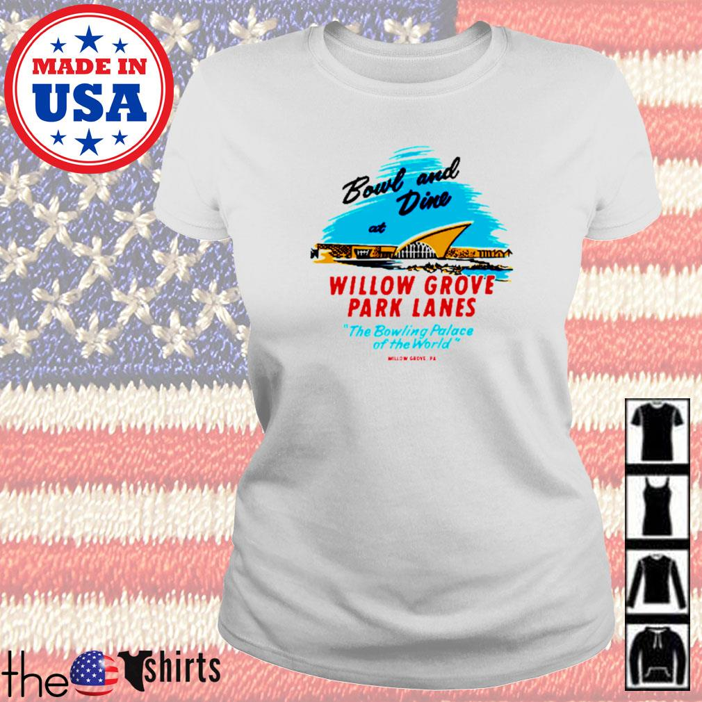 Willow grove park lanes willow grove pa vintage bowling alley s Ladies tee