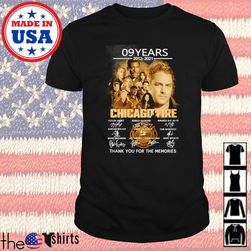 09 Years 2012-2021 Chicago Fire Kinney Raymund Walker Stolte Sardarov signature shirt