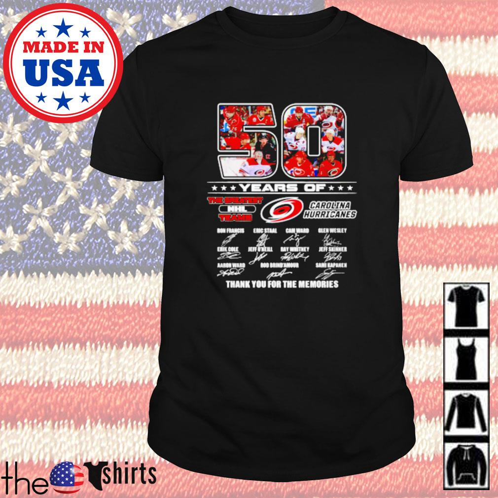 50 Years of Carolina Hurricanes the greatest NHL teams signature shirt