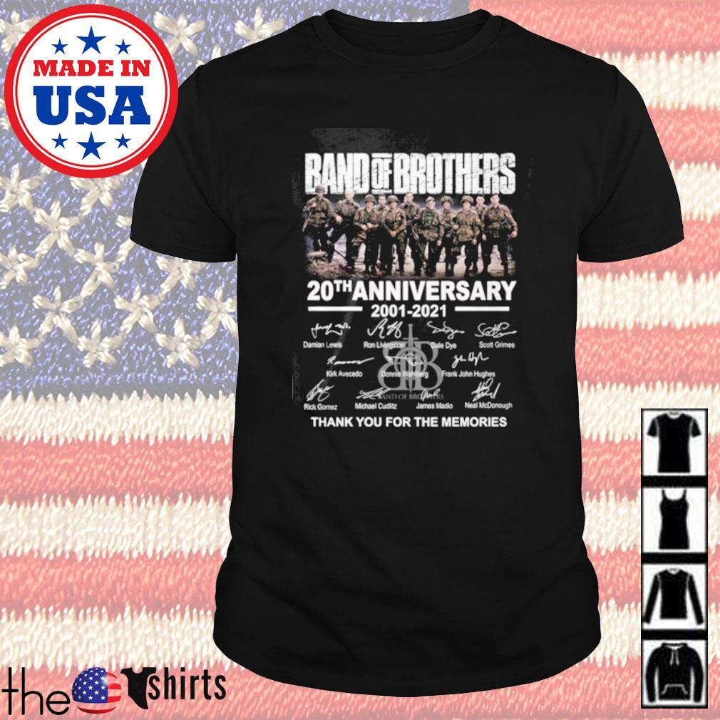 Band of brothers 20th anniversary 2001-2021 signature shirt