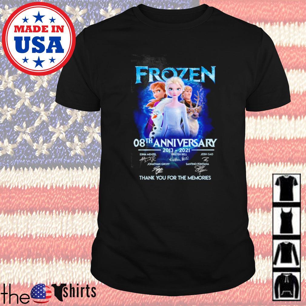 Frozen 08th anniversary 2013-2021 signature shirt