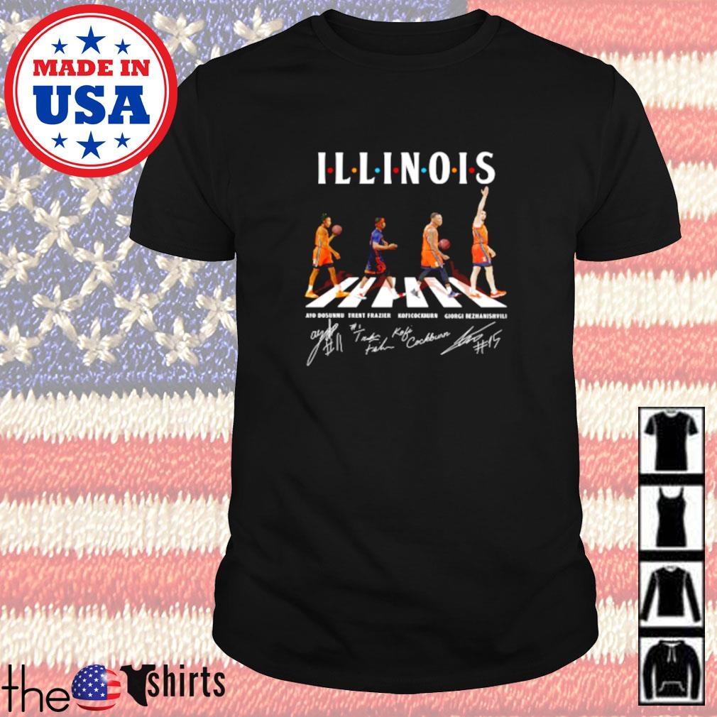 Illinois Fighting Illini Abbey Road Dosunmu Frazier signatures shirt