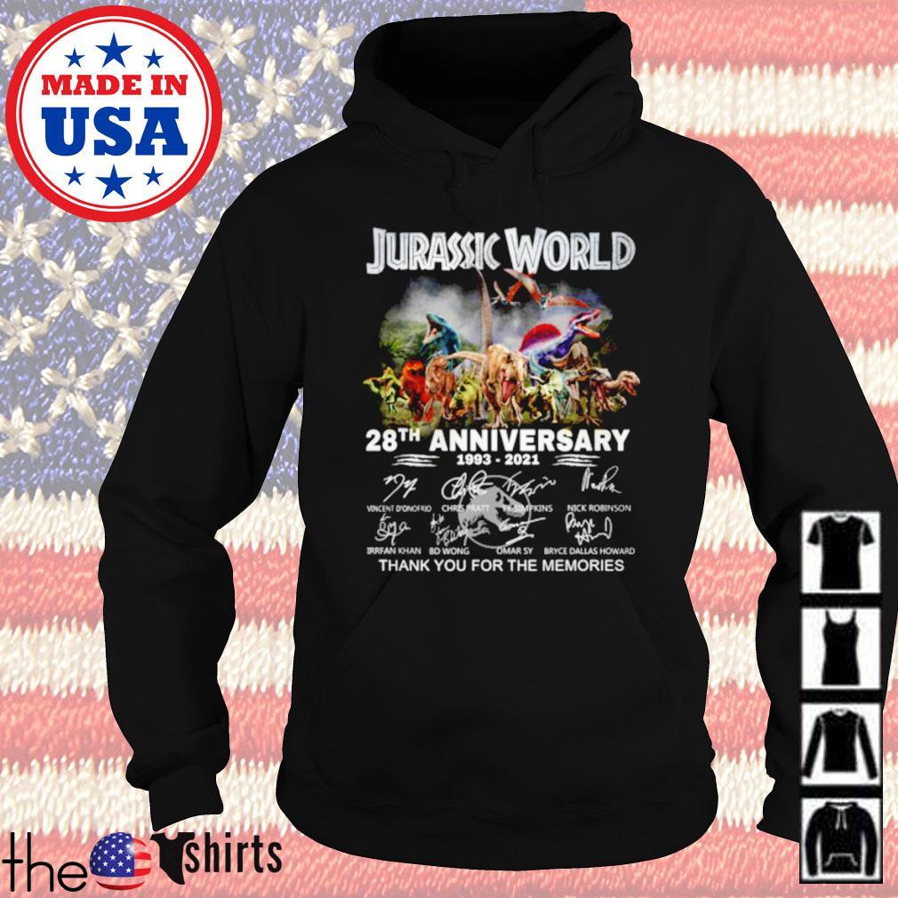 Jurassic world 28th anniversary 1993-2021 signature Hoodie