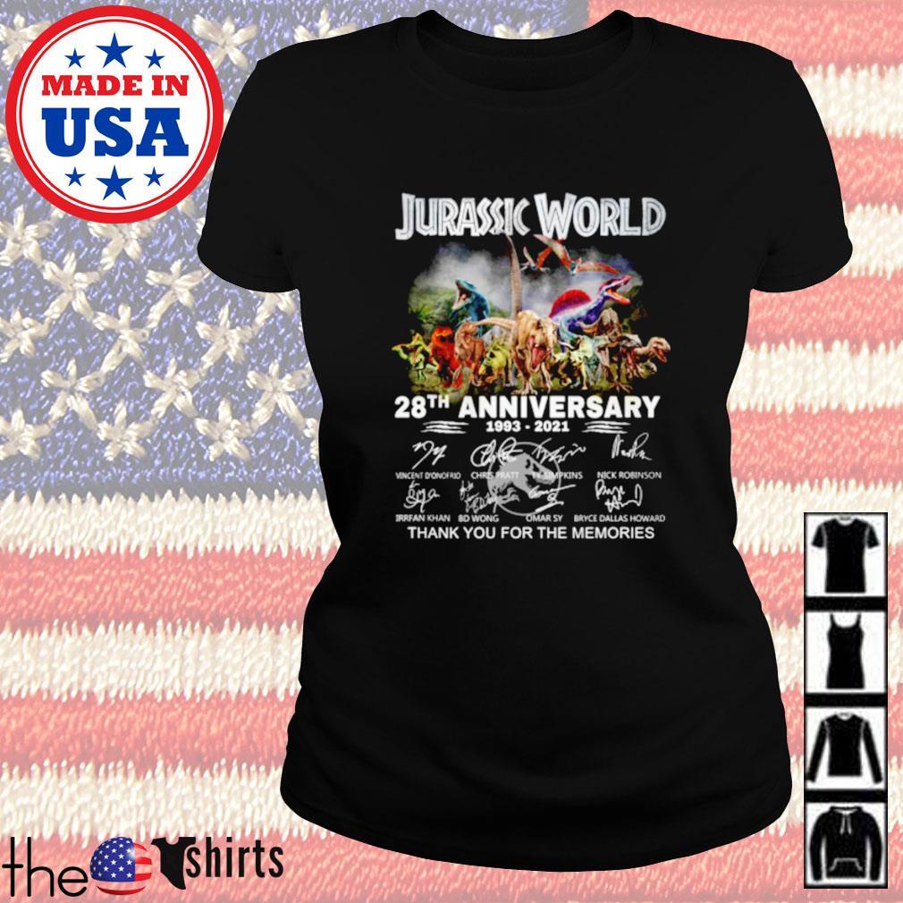 Jurassic world 28th anniversary 1993-2021 signature Ladies tee