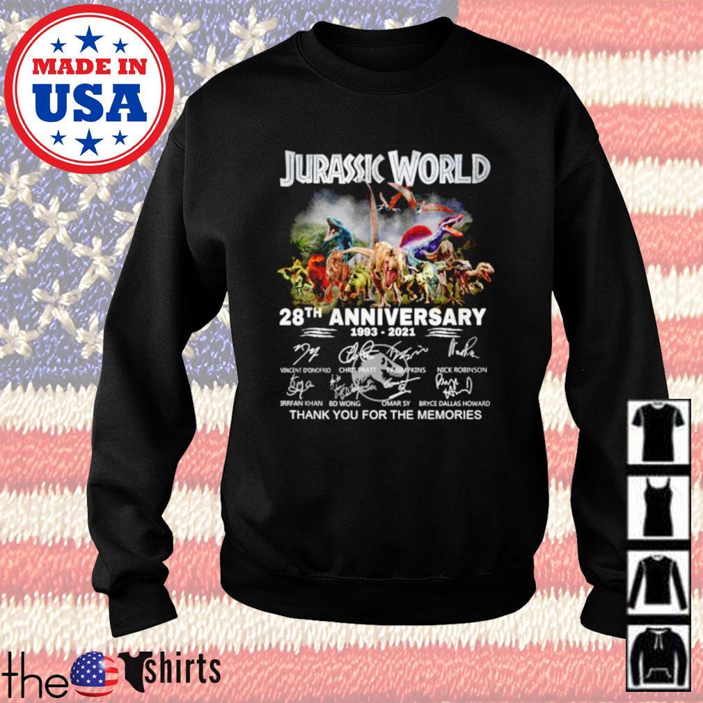 Jurassic world 28th anniversary 1993-2021 signature Sweater