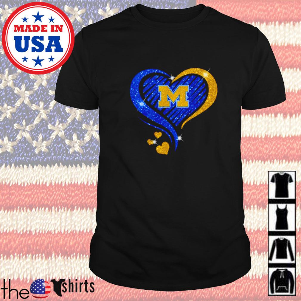 Michigan Wolverines football diamond heart shirt