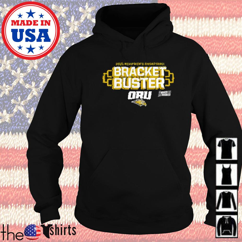 Oral roberts golden eagles fanatics branded 2021 ncaa men's basketball tournament march madness bracket buster Hoodie