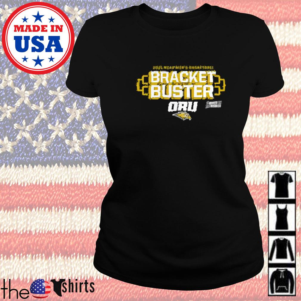 Oral roberts golden eagles fanatics branded 2021 ncaa men's basketball tournament march madness bracket buster Ladies tee