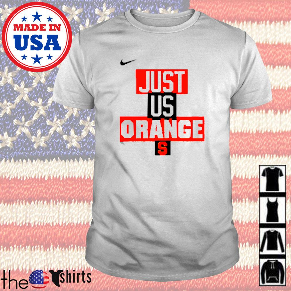 Syracuse Orange Nike basketball just us shirt