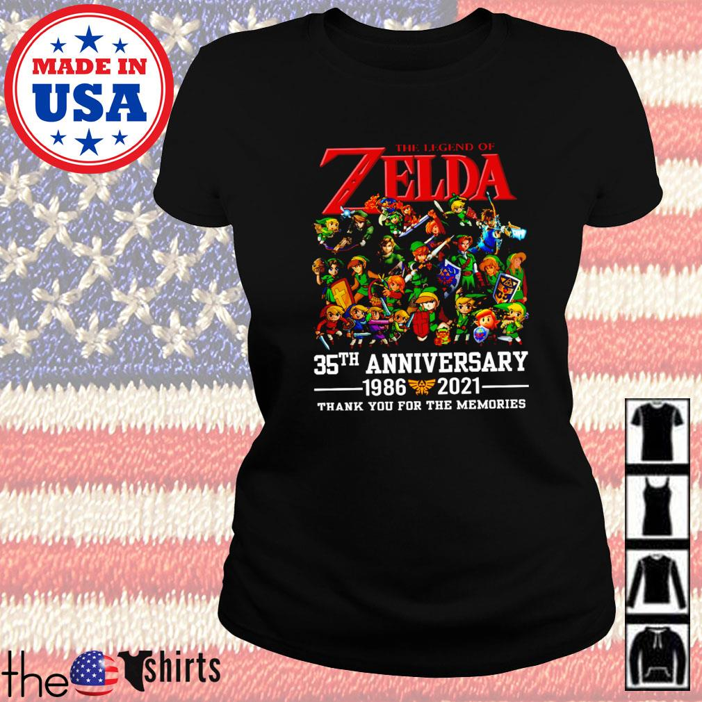 The legend Zelda 35th anniversary 1986-2021 thank you for the memories Ladies tee