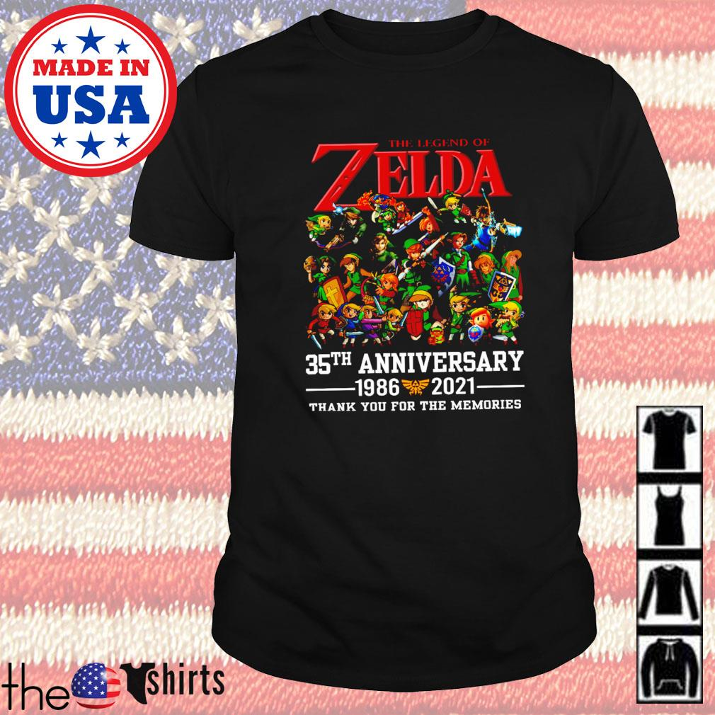The legend Zelda 35th anniversary 1986-2021 thank you for the memories shirt