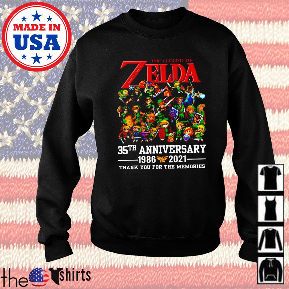 The legend Zelda 35th anniversary 1986-2021 thank you for the memories Sweater