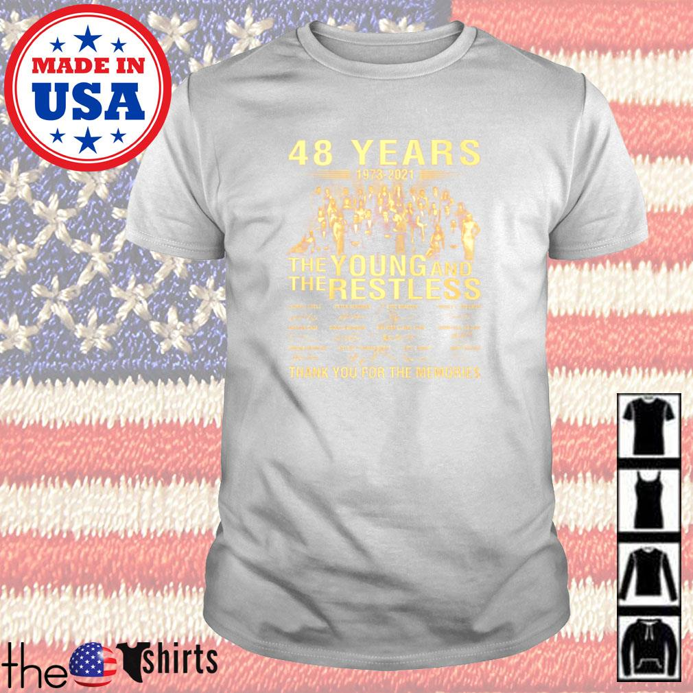 48 Years 1973-2021 the Young and the Restless thank you for the memories signature shirt