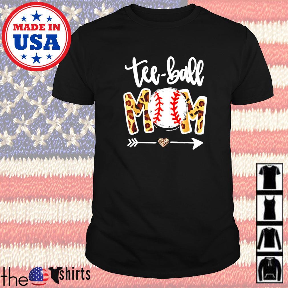 Teeball mom leopard mothers day 2021 shirt