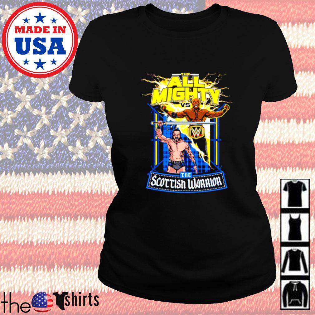WrestleMania 37 Bobby Lashley vs Drew McIntyre match up Ladies tee
