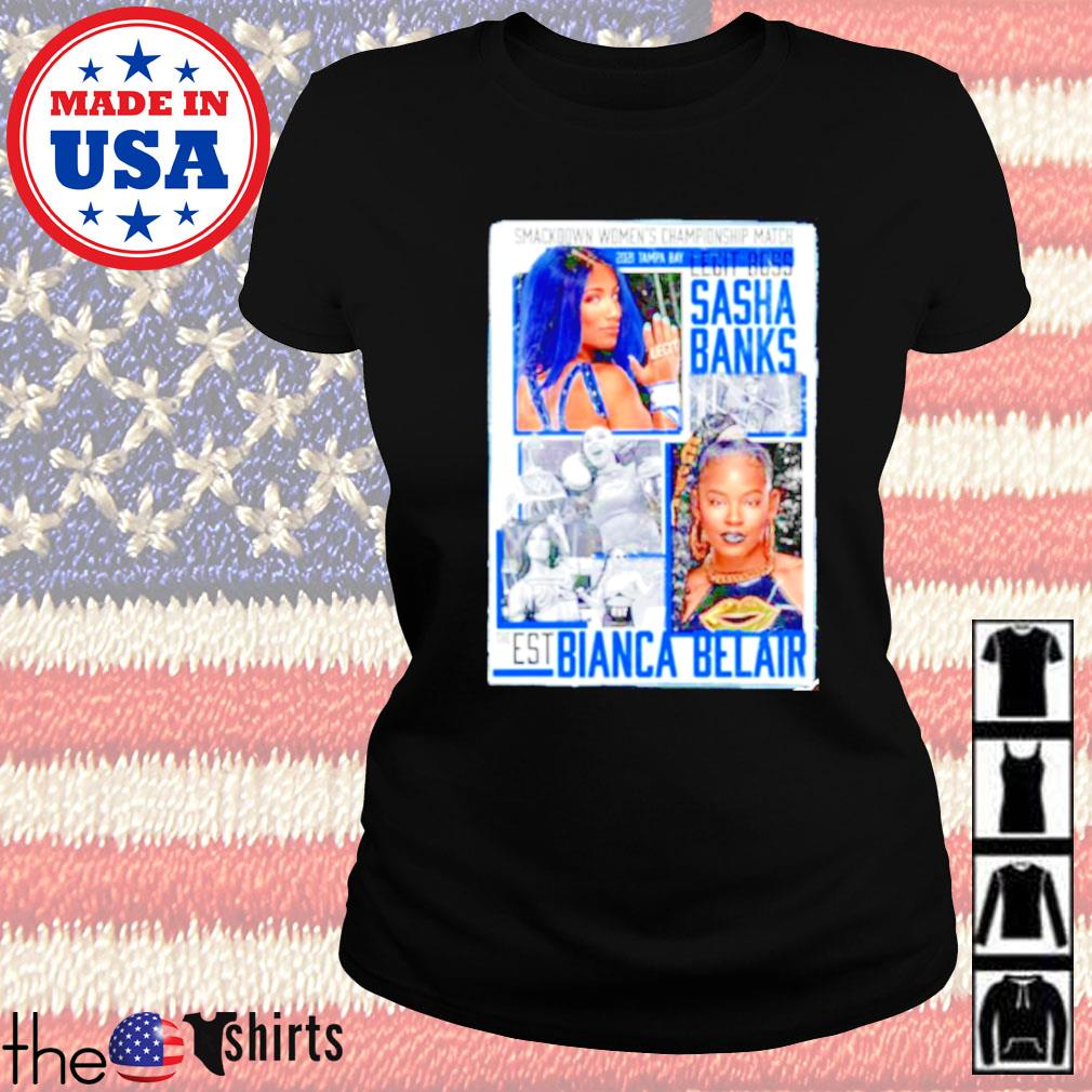 WrestleMania 37 Sasha Banks vs Bianca Belair Match up Ladies tee
