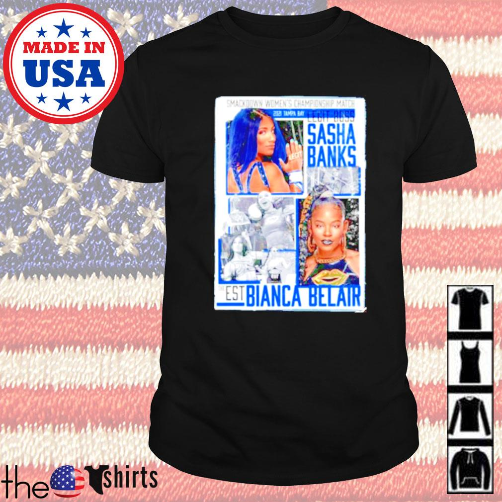 WrestleMania 37 Sasha Banks vs Bianca Belair Match up shirt