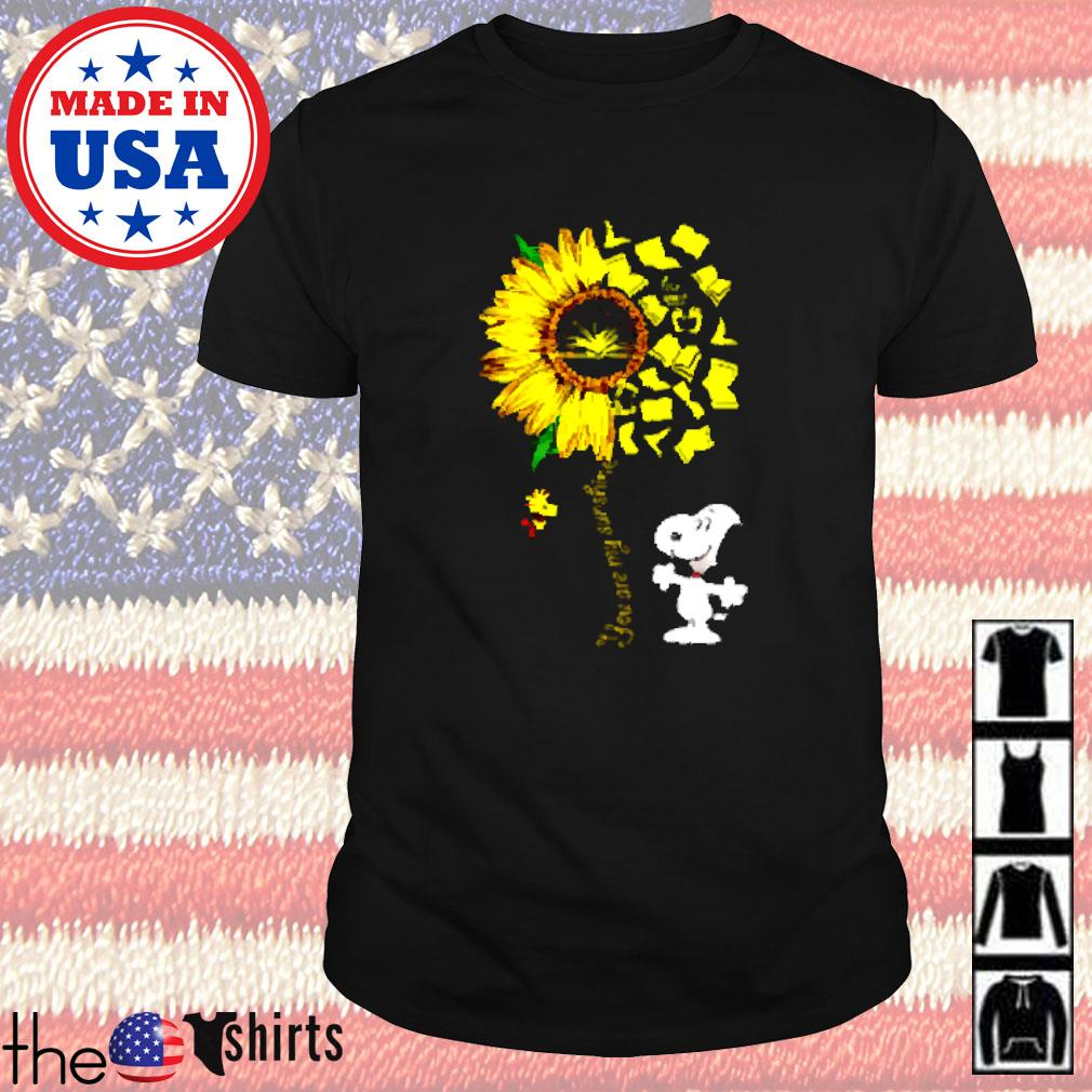 You are my sunshine snoopy books shirt