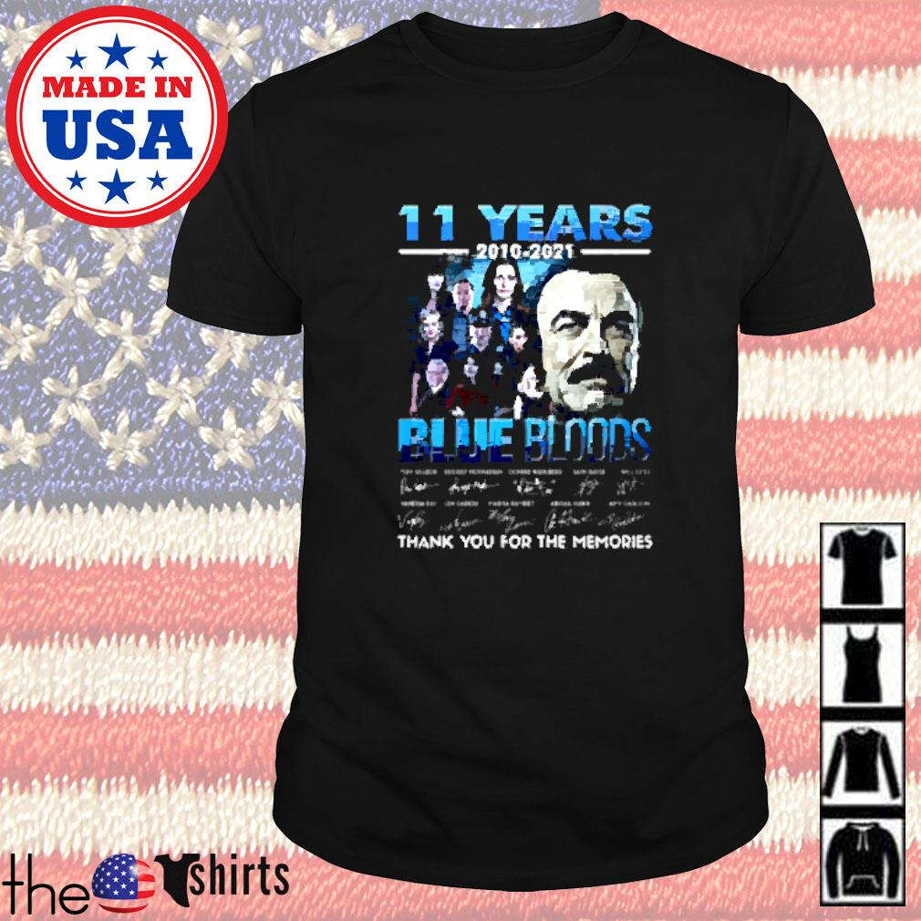 11 Years 2010-2021 Blue Bloods thank you for the memories signature shirt