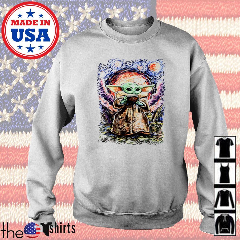 Baby Yoda Vagh Gogh Starry Night Sweater