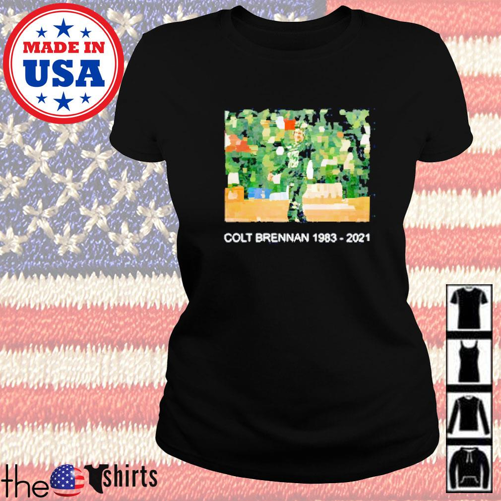 Colt brennan 1983-2021 #15 thank you for all memories Ladies tee
