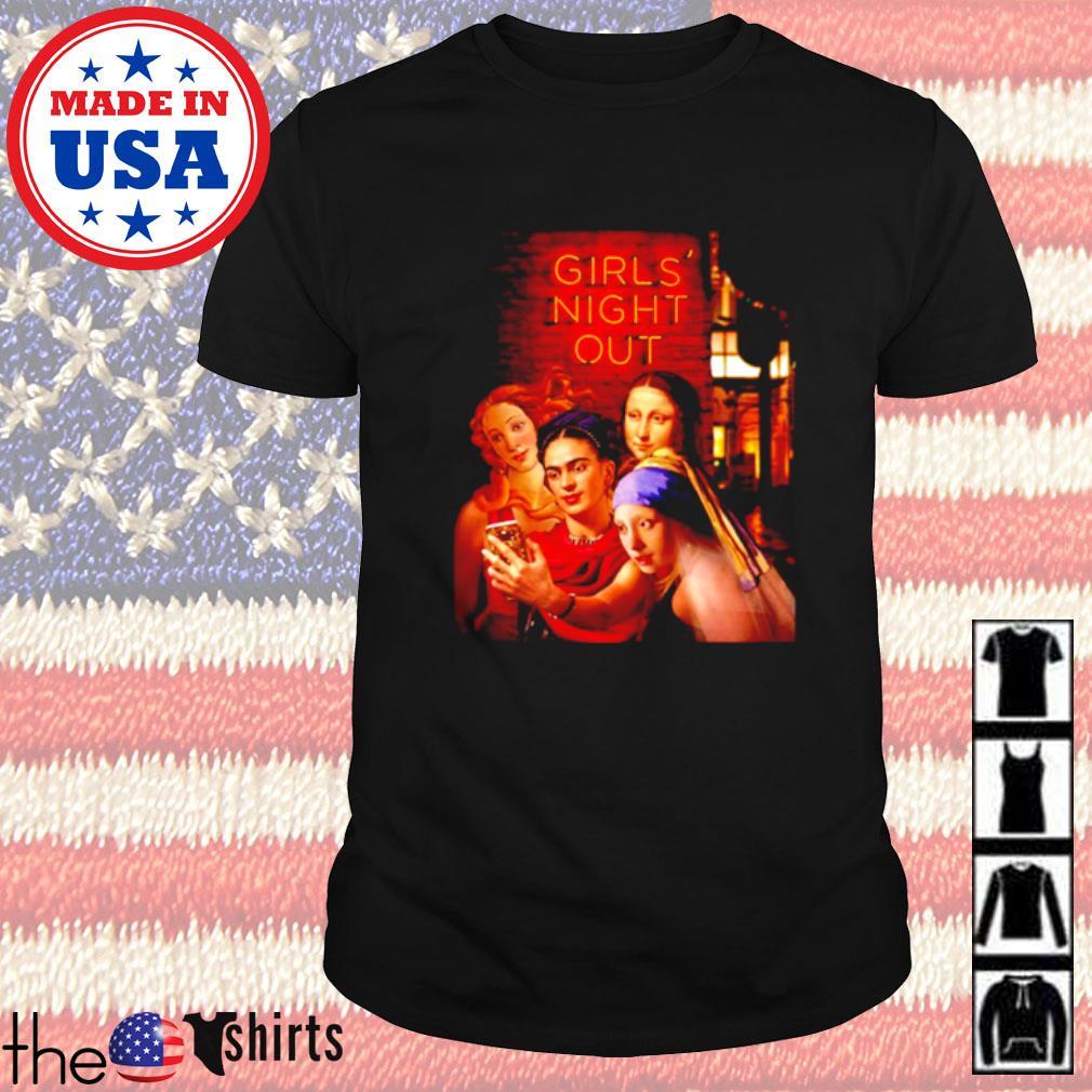 Girls Night Out Frida Kahlo Mona Lisa shirt