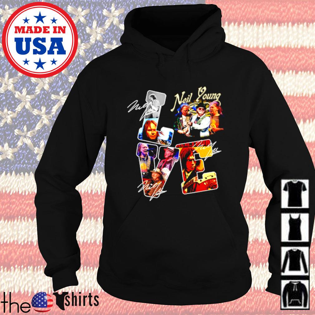 Love Neil Young signature Hoodie