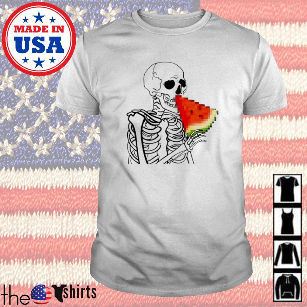 Skeleton eat Watermelon shirt