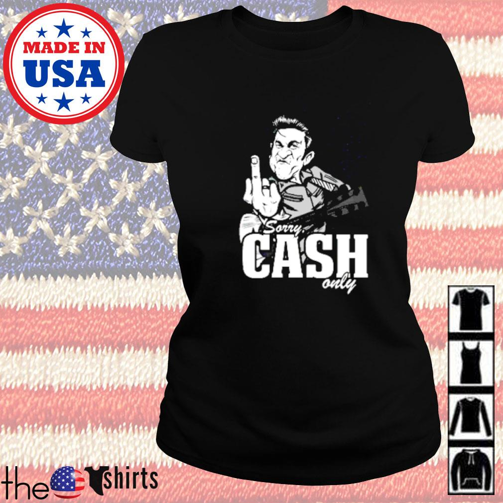 Sorry cash only guitar Ladies tee
