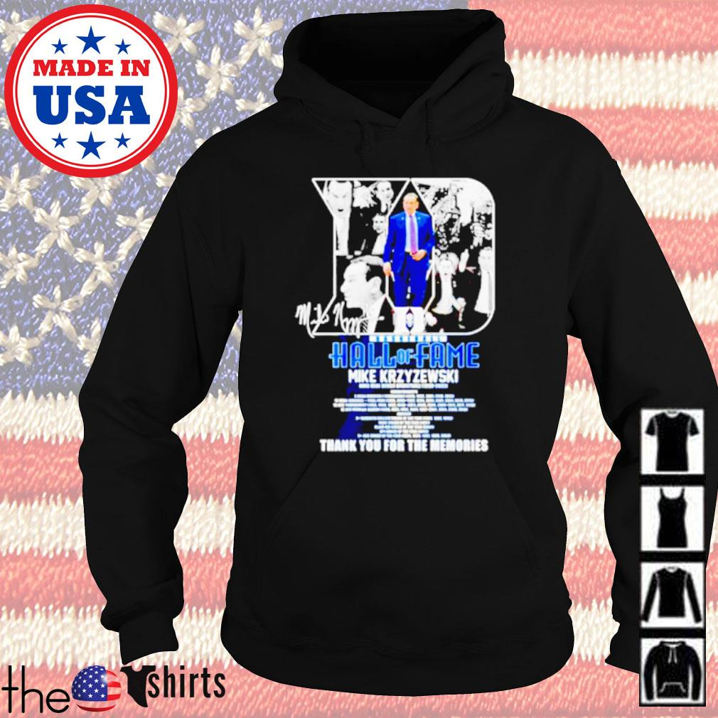 Basketball Hall of Fame Mike Krzyzewski thank you for the memories Hoodie