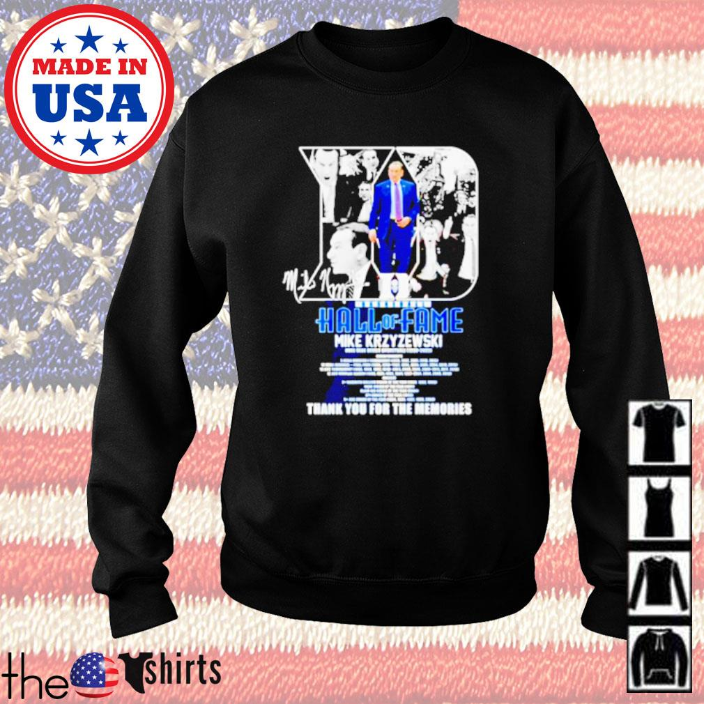 Basketball Hall of Fame Mike Krzyzewski thank you for the memories Sweater