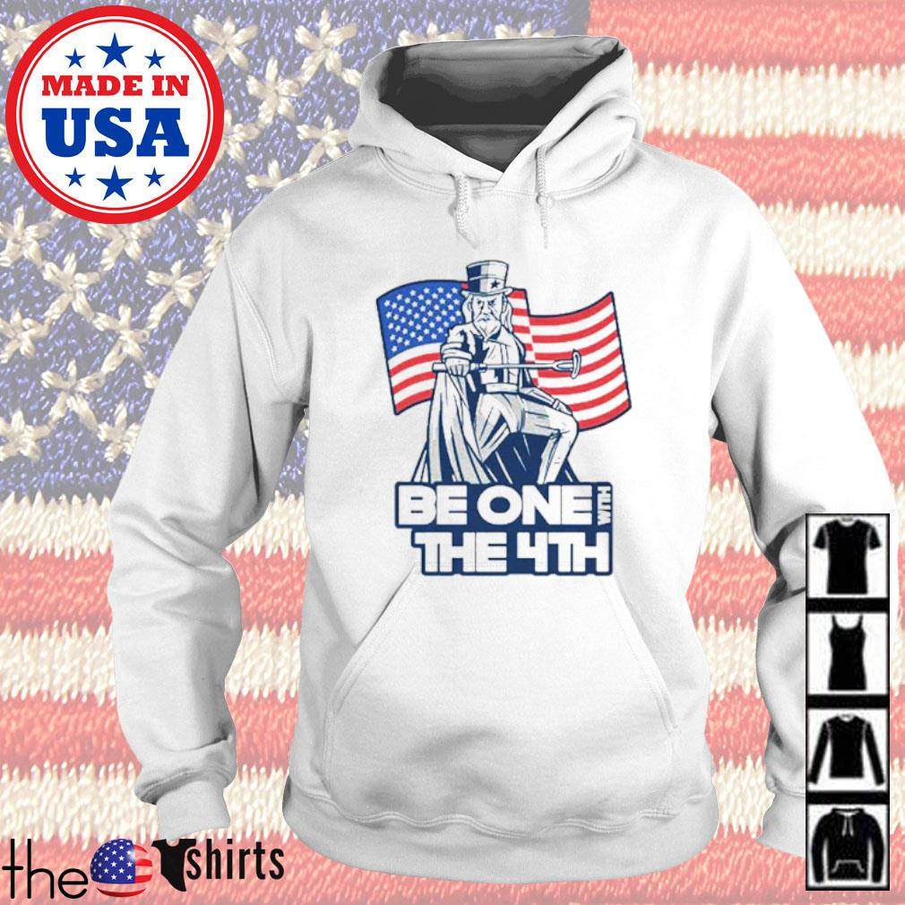 Be one with the 4th American flag Hoodie