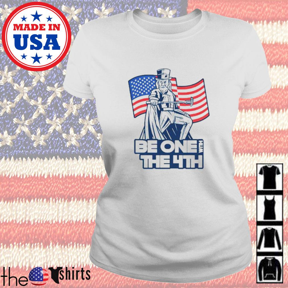 Be one with the 4th American flag Ladies tee