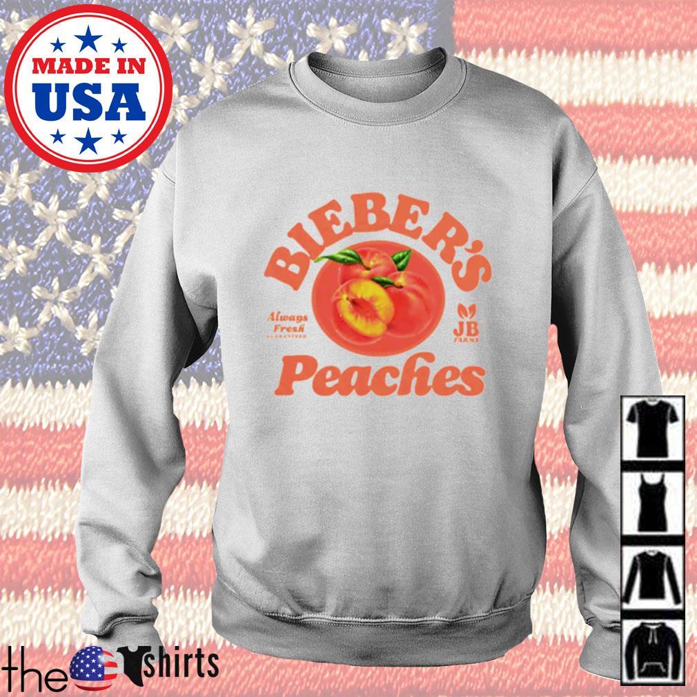 Bieber's Peaches always Fresh quaranteed farms Sweater