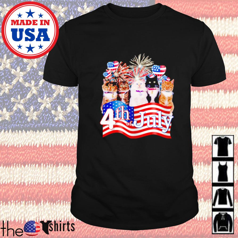 Cats we love America too 4th of July shirt