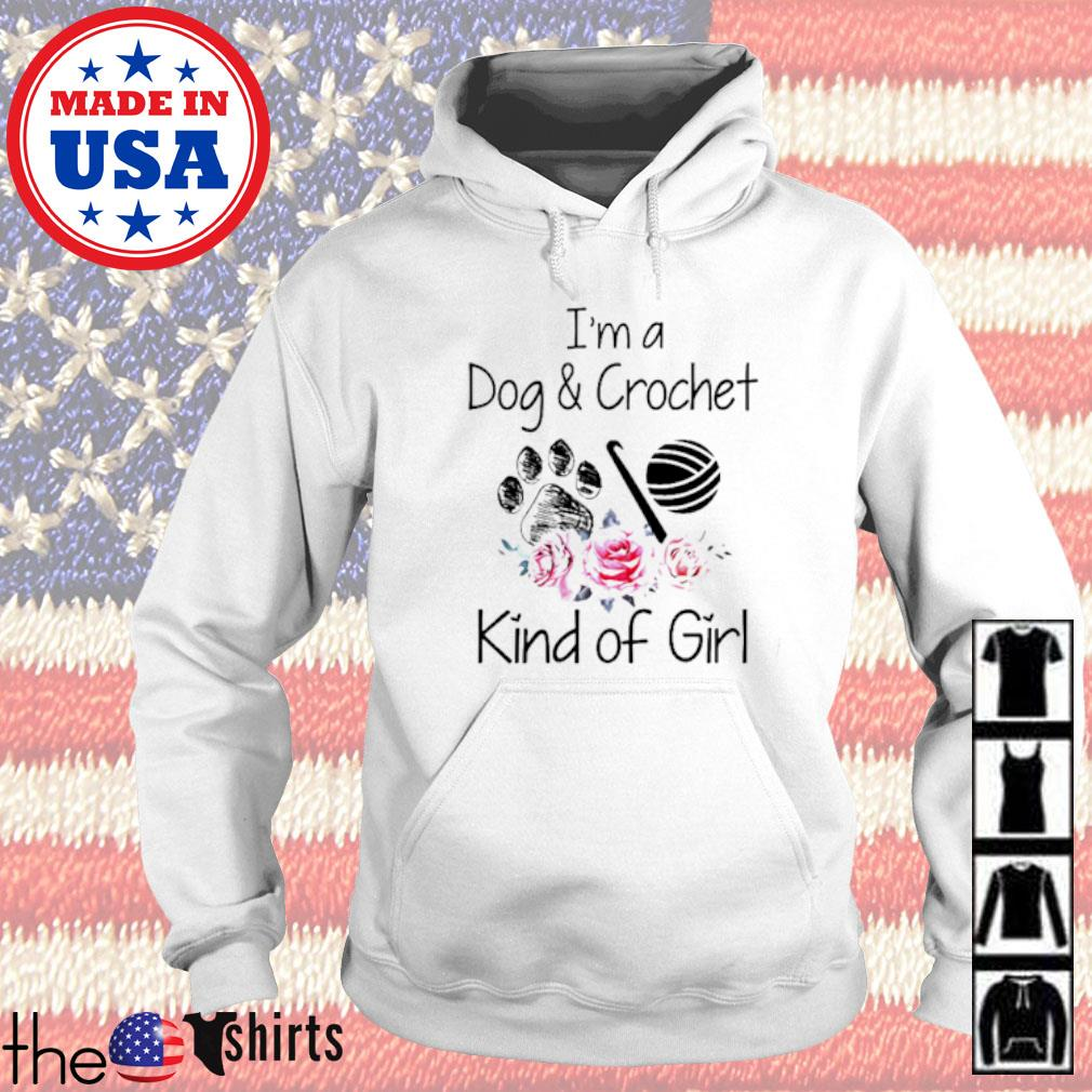 I'm a dog and crochet kind of girl floral Hoodie