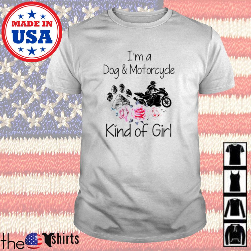 I'm a dog and motorcycle kind of girl floral shirt