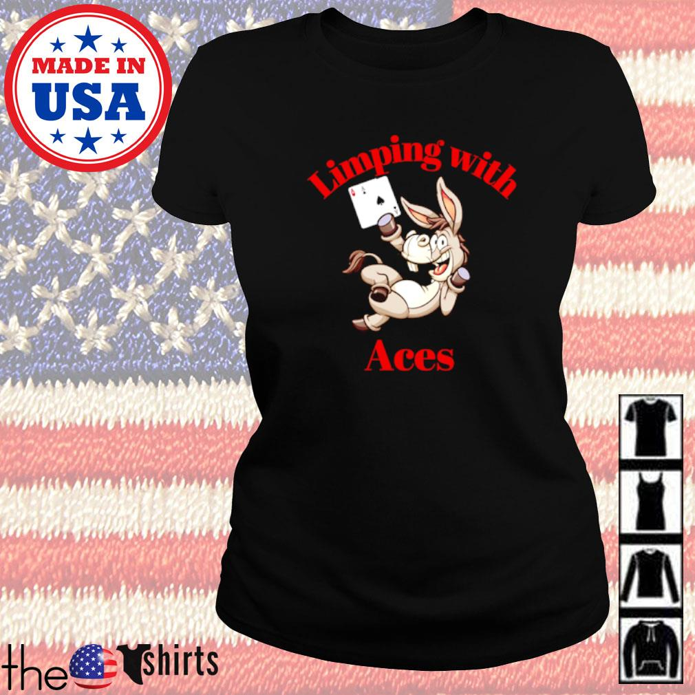 Limping with Aces Casino Poker Ladies tee