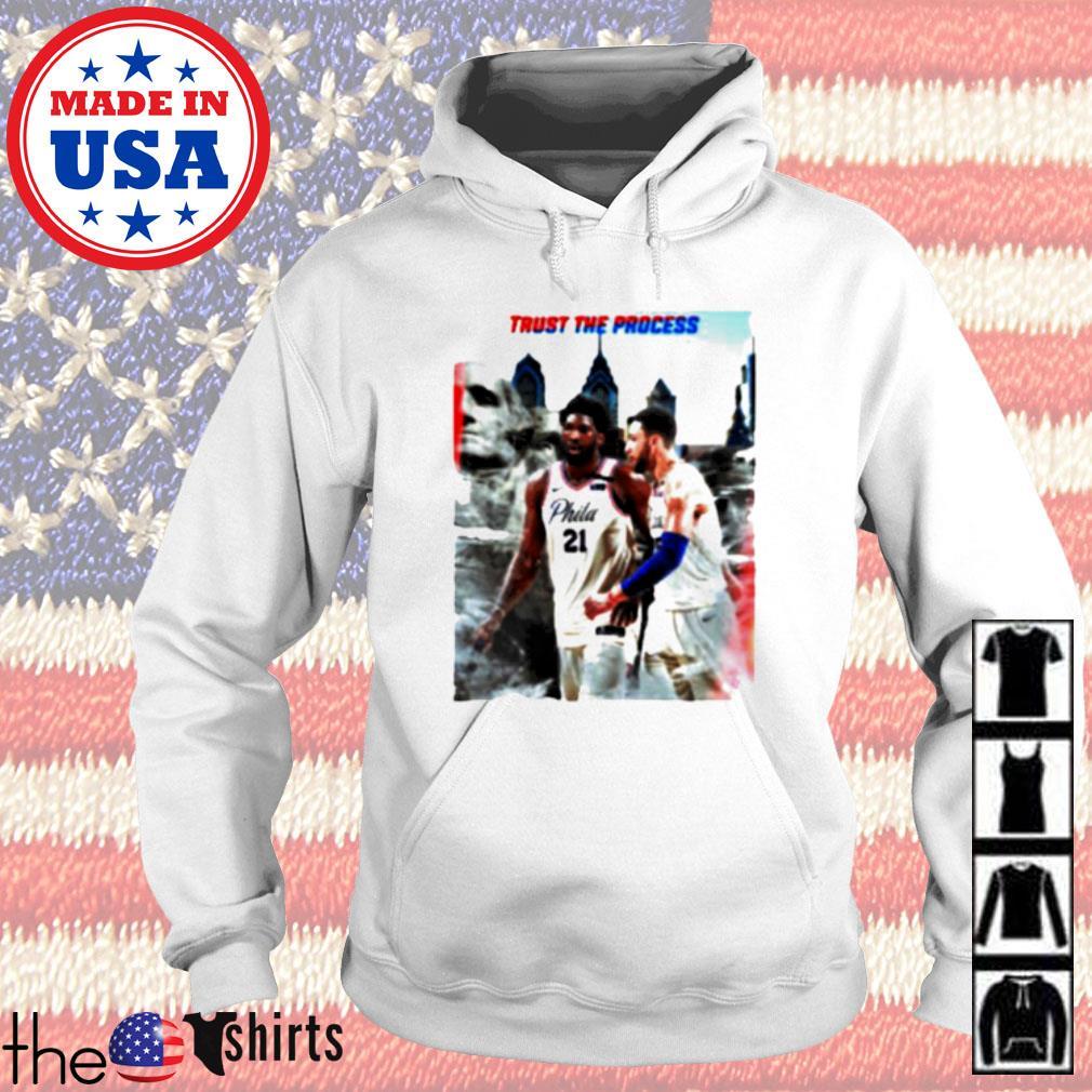 Philadelphia 76ers Joel Embiid and Ben Simmons Trust the process Hoodie