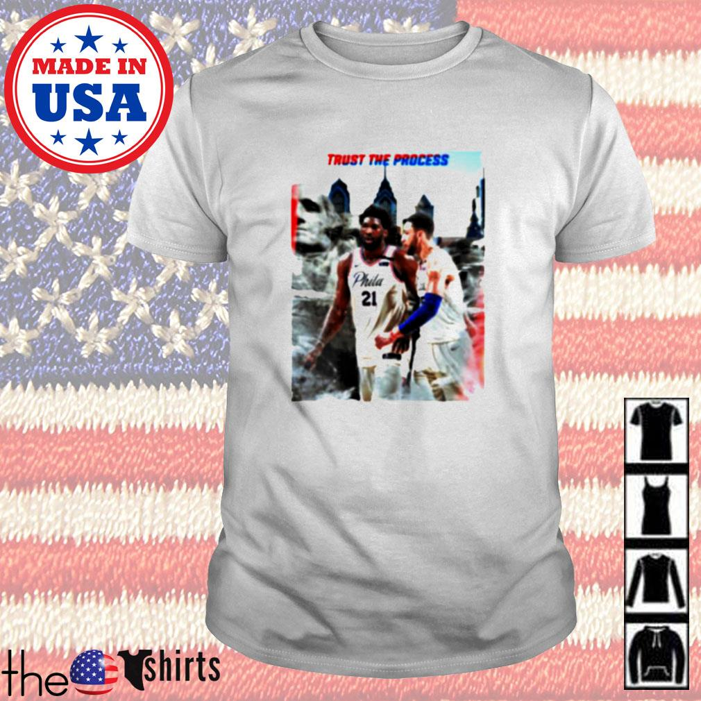 Philadelphia 76ers Joel Embiid and Ben Simmons Trust the process shirt