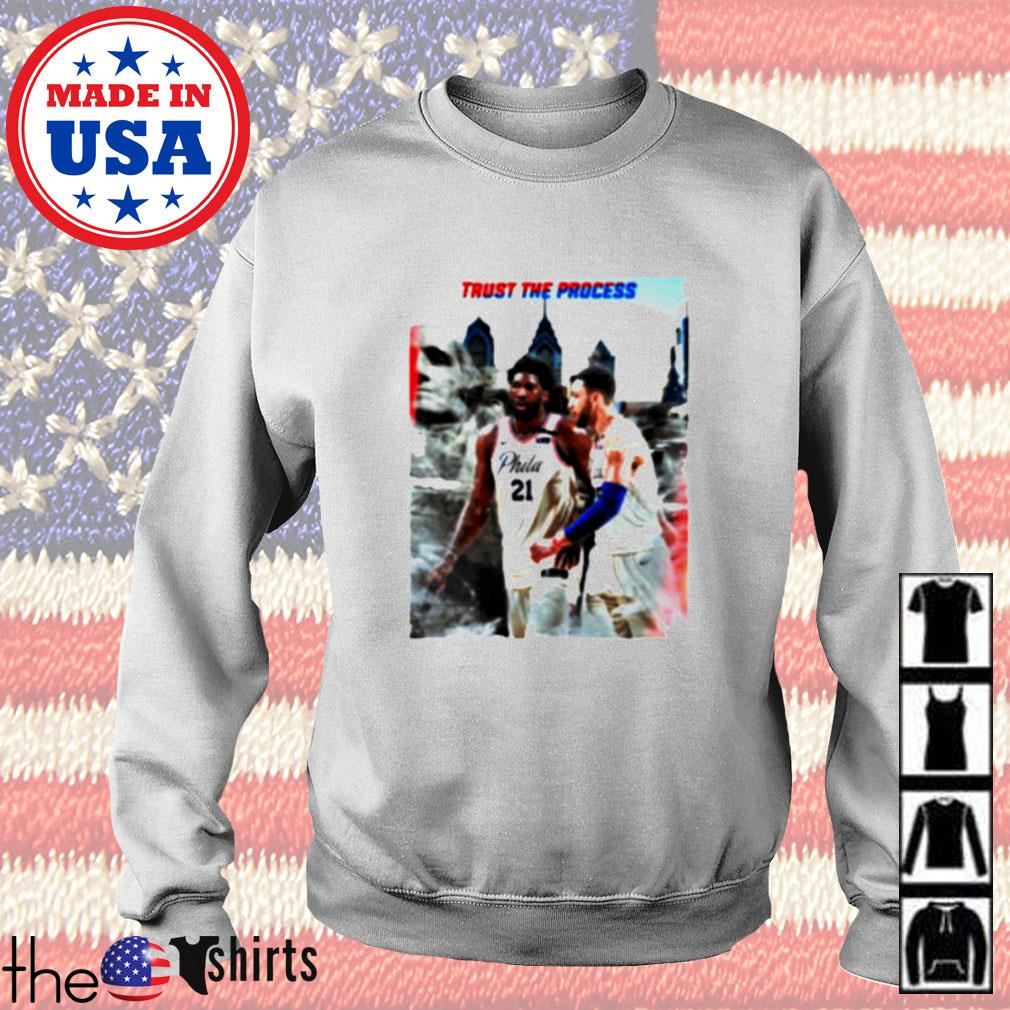 Philadelphia 76ers Joel Embiid and Ben Simmons Trust the process Sweater