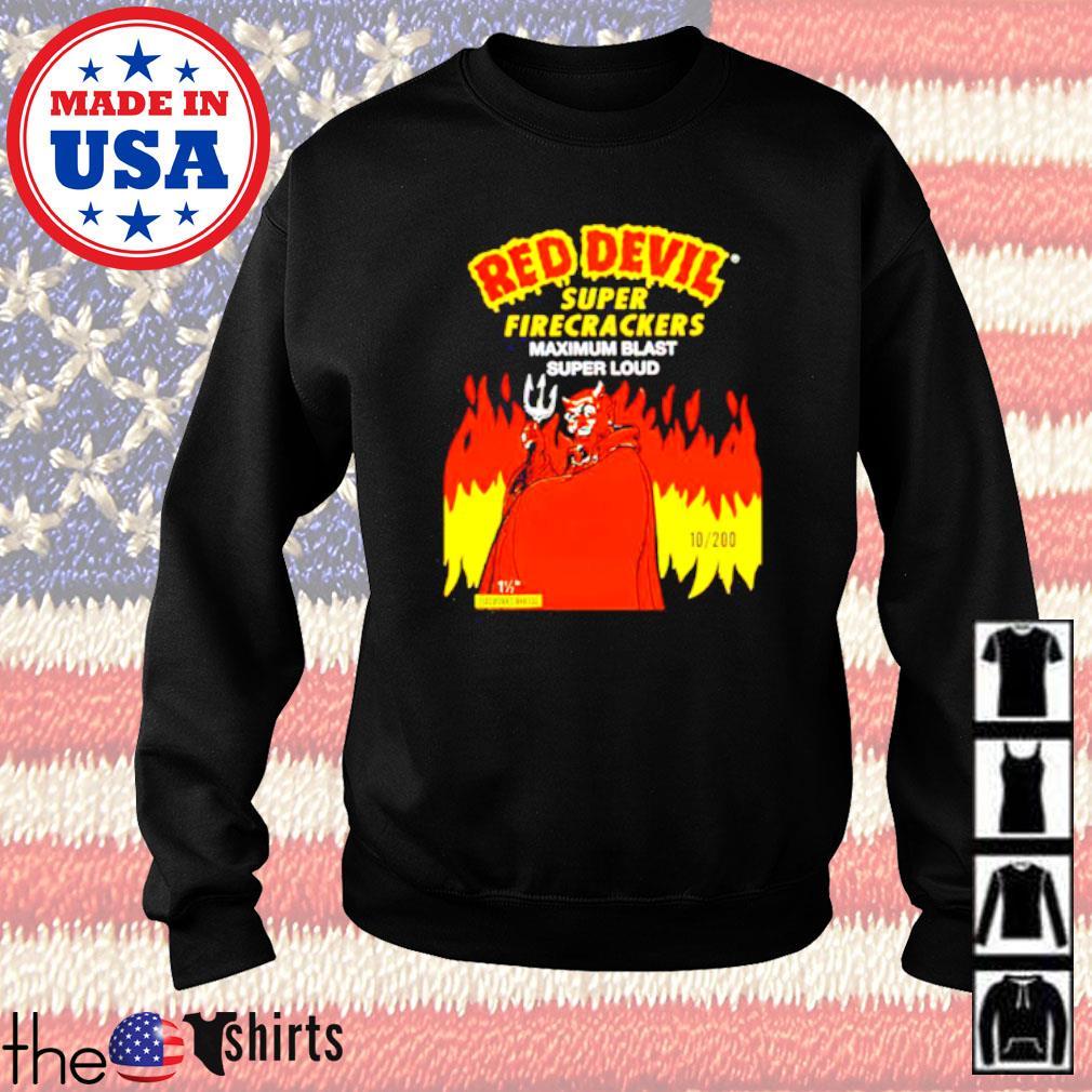 Red Devil super firecrackers maximum blast super loud Sweater