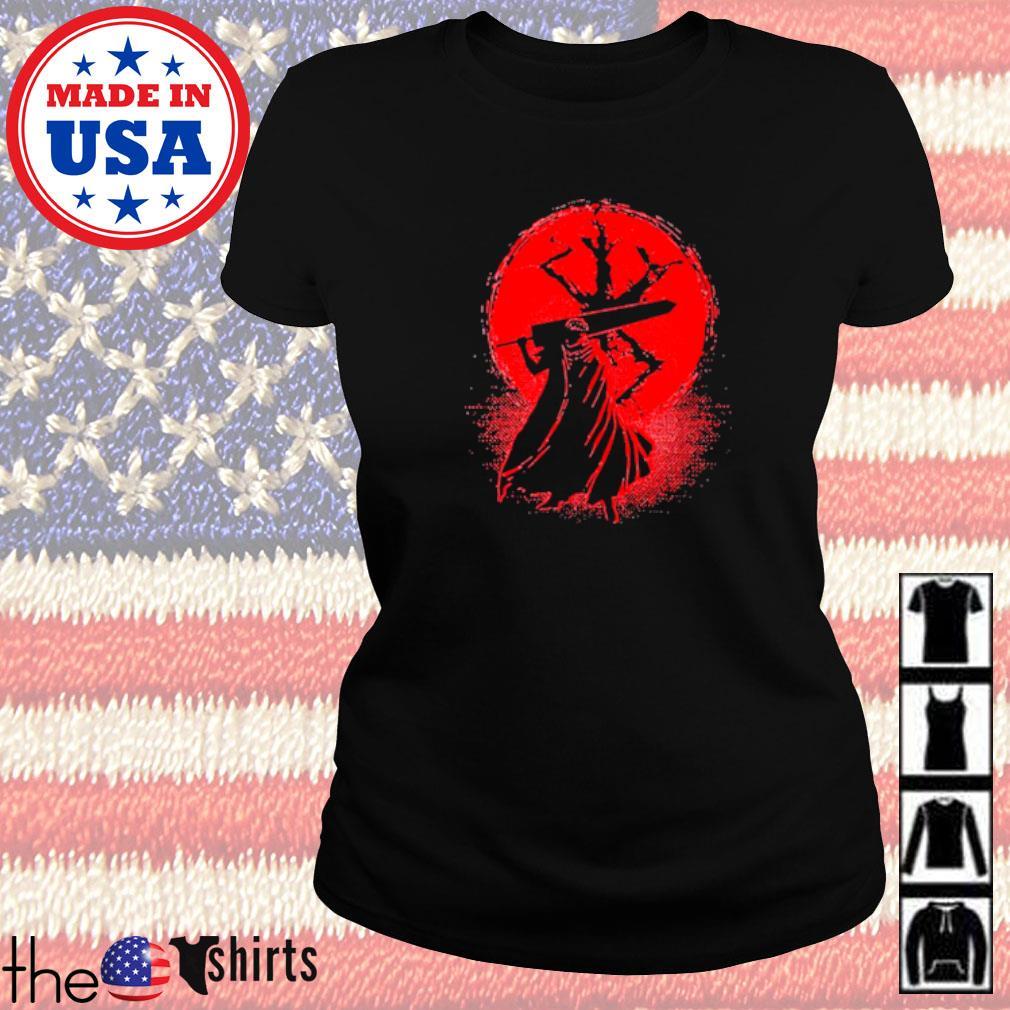 Samurai Japan blood moon Ladies tee