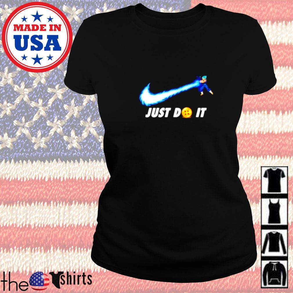 Songoku Kamehameha Nike just do it Ladies tee